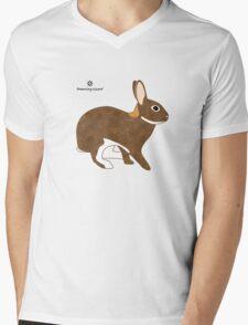 Chestnut Agouti Rabbit Mens V-Neck T-Shirt