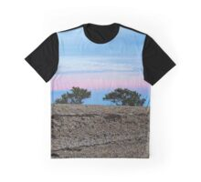 Hawk's Nest And Trees Behind A Very Steep Beach At Dawn | East Marion, New York Graphic T-Shirt