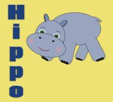 Blue Hippo 2 One Piece - Short Sleeve