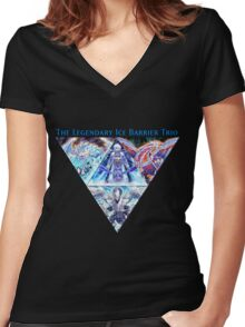 The Ice Barrier Dragons Women's Fitted V-Neck T-Shirt