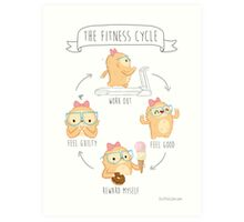 Slothilda Sloth - The Fitness Cycle Art Print