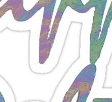 Kappa Delta Psychedelia Lettering Sticker