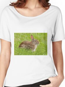 Rabbit in a Grassy Meadow Women's Relaxed Fit T-Shirt