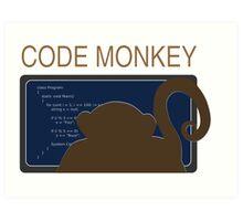 CodeMonkey Art Print