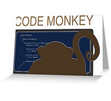 CodeMonkey Greeting Card