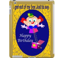 Jack in the box (2529 Views) iPad Case/Skin