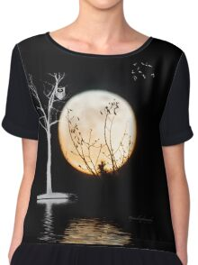 Super Moon Light (T-Shirt) Chiffon Top