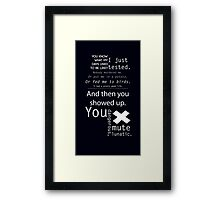 From Aperture With Love Framed Print