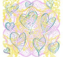 Random Heart Mandala Photographic Print