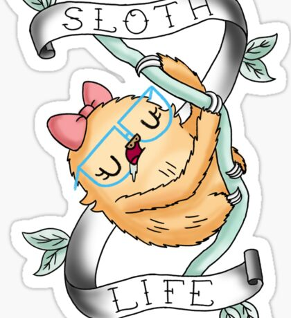 Slothilda Sloth - Sloth Life Sticker