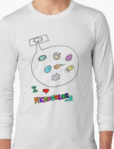 I love microbiology- school style Long Sleeve T-Shirt