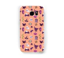 Halloween in orange pattern 2 Samsung Galaxy Case/Skin