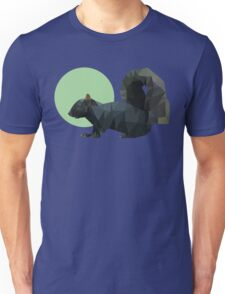 Colored Polygonal Black Squirrel Unisex T-Shirt