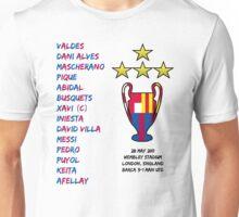 Barcelona 2011 Champions League Final Winners Unisex T-Shirt