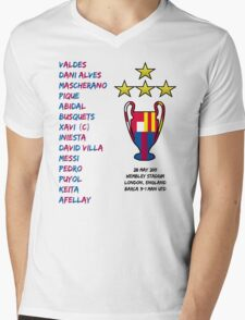 Barcelona 2011 Champions League Final Winners Mens V-Neck T-Shirt
