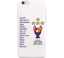 Barcelona 2011 Champions League Final Winners iPhone Case/Skin