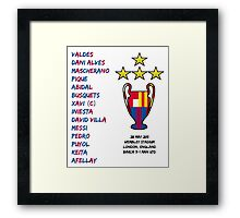 Barcelona 2011 Champions League Final Winners Framed Print