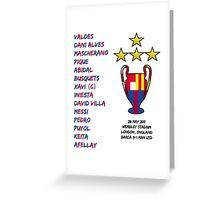 Barcelona 2011 Champions League Final Winners Greeting Card