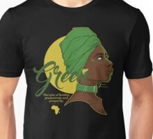 Green -  The color of fertility, productivity, and prosperity. Unisex T-Shirt
