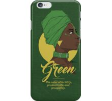 Green -  The color of fertility, productivity, and prosperity. iPhone Case/Skin