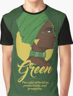 Green -  The color of fertility, productivity, and prosperity. Graphic T-Shirt