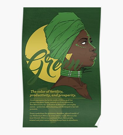 Green -  The color of fertility, productivity, and prosperity. Poster