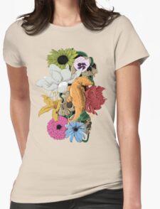 Lizards, Skulls & Flowers Womens Fitted T-Shirt
