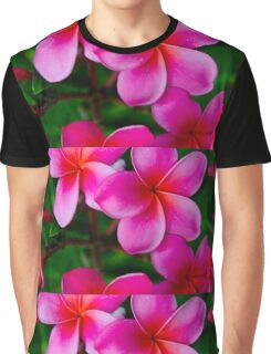 Pink Plumeria 1077 Graphic T-Shirt