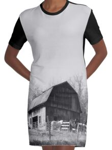 Out Behind The Barn Graphic T-Shirt Dress