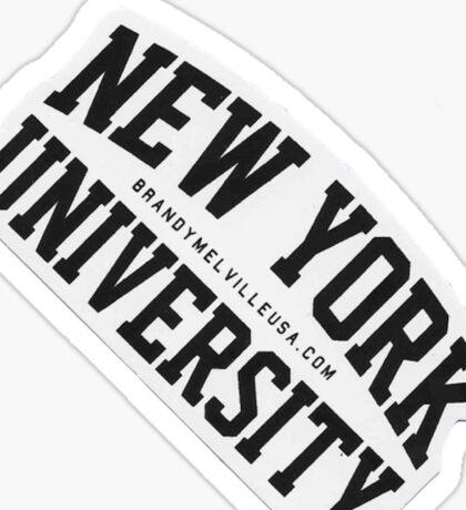 NEW YORK UNIVERSIRT BRANDY MELVILLE Sticker