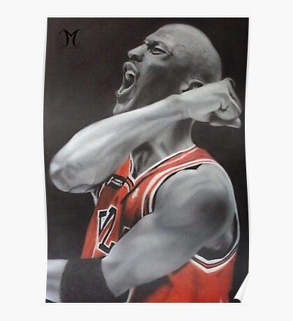 Jordan Airbrush Painting by Jmunz Poster