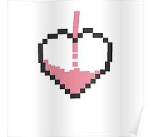 Pixel Pink Heart Poster