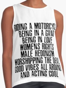 motorcycle Contrast Tank
