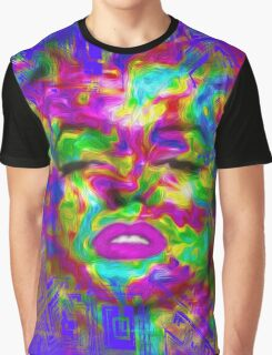 Pop Art, Colorful Abstract Retro Marilyn  Graphic T-Shirt