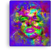 Pop Art, Colorful Abstract Retro Marilyn  Canvas Print