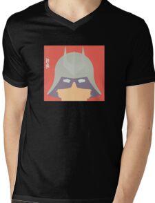 Char w/hard shadow Mens V-Neck T-Shirt