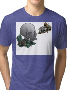 Tattoo inspired design digital Illustration Tri-blend T-Shirt