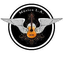 Musica L.A. Guitar Logo  Photographic Print
