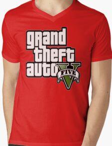 GTA V 5 Five AB2 Mens V-Neck T-Shirt