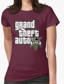GTA V 5 Five AB2 Womens Fitted T-Shirt