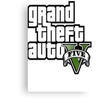GTA V 5 Five AB2 Canvas Print