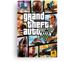 GTA V 5 Five AB3 Canvas Print
