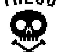 THEUG | The Urban Geek 8-bit Skull by lonelycreations