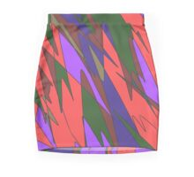 Retro Abstract Mini Skirt
