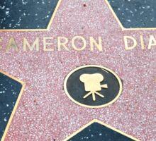 Cameron Diaz walk of fame star Sticker