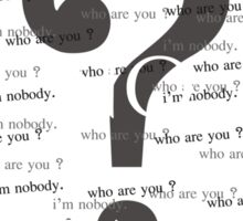 i'm no one Sticker