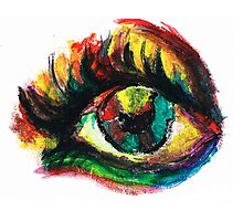 Abstract Eye Photographic Print