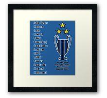 Inter Milan 2010 Champions League Final Winners Framed Print