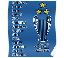 Inter Milan 2010 Champions League Final Winners Poster
