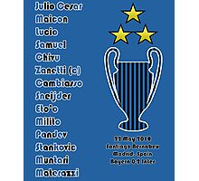 Inter Milan 2010 Champions League Final Winners Photographic Print